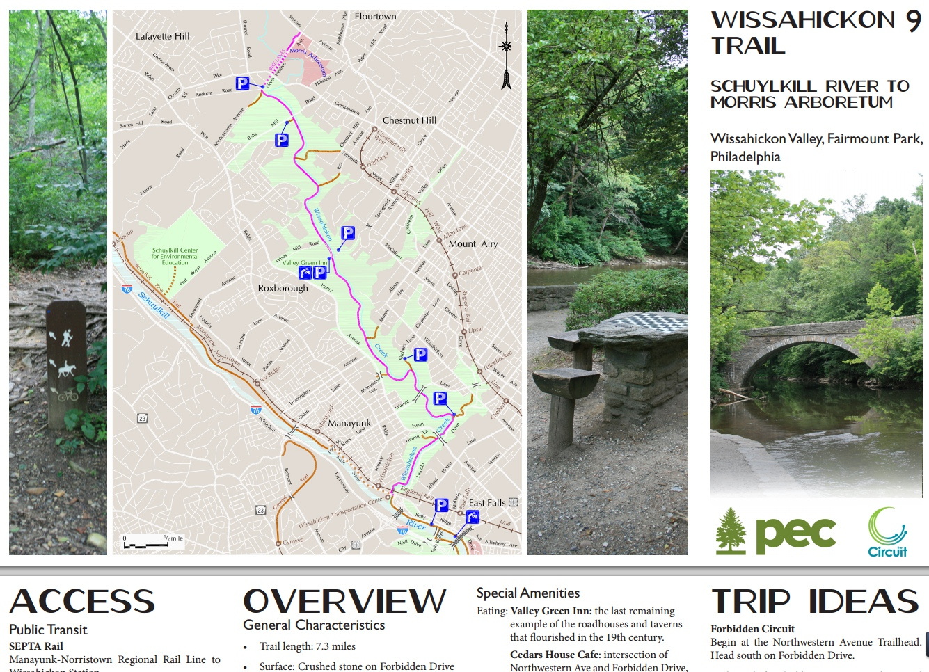 Wissahickon Trail Map Pdf