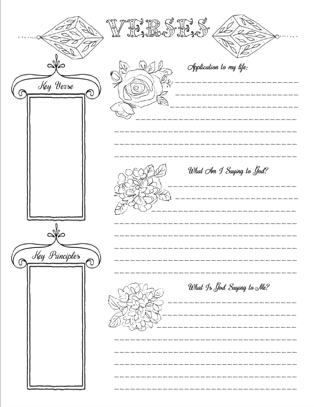 Worksheet Free Bible Journaling Templates Pdf