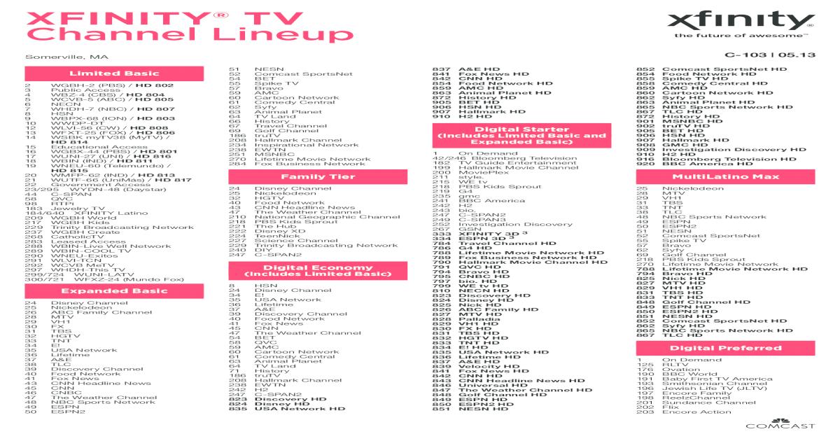 Xfinity Latino Channel Lineup Pdf 2020