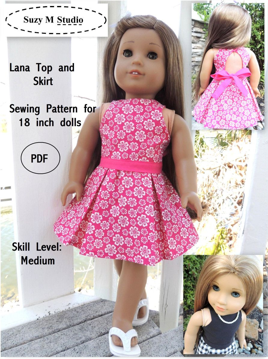 18 Inch Printable 18 Doll Clothes Patterns Pdf Free