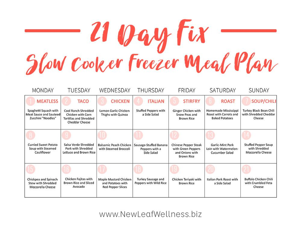 21 Day Meal Plan Tiffany Pdf