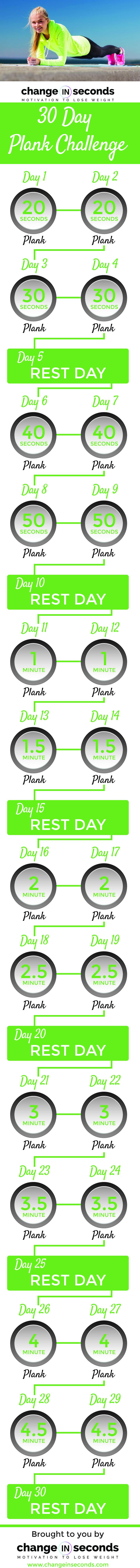 30 Day Plank Challenge Pdf