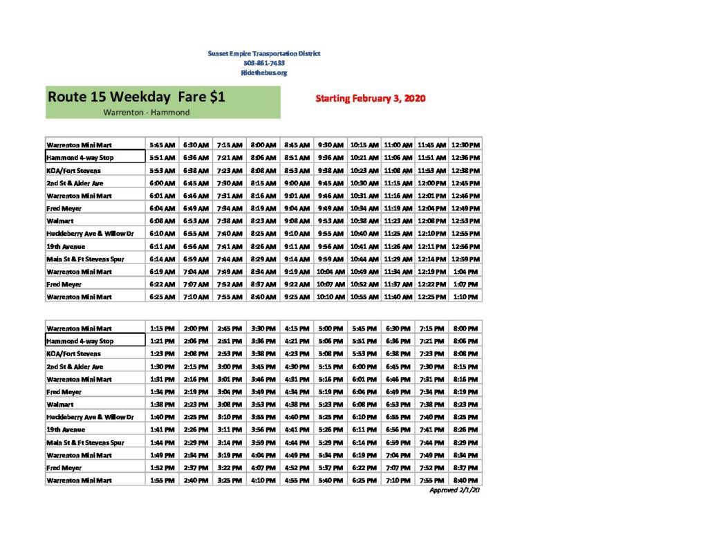 704 Bus Schedule Pdf