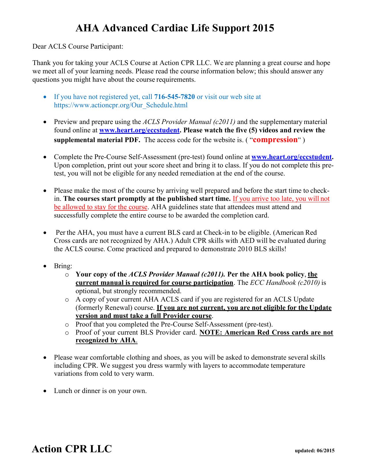 Acls Pretest Answers 2018 Pdf