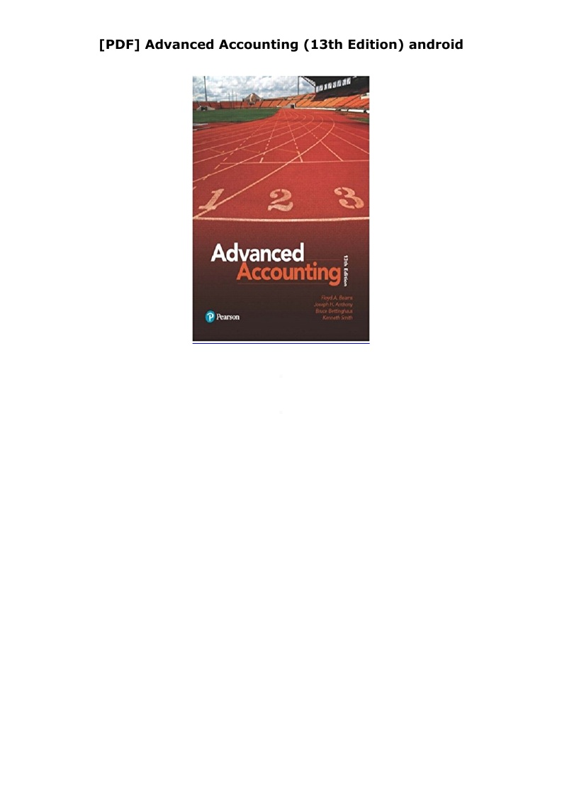 Advanced Accounting 13th Edition Pdf