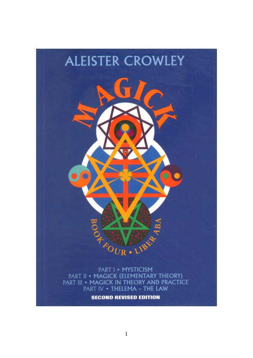 Aleister Crowley Magick Pdf