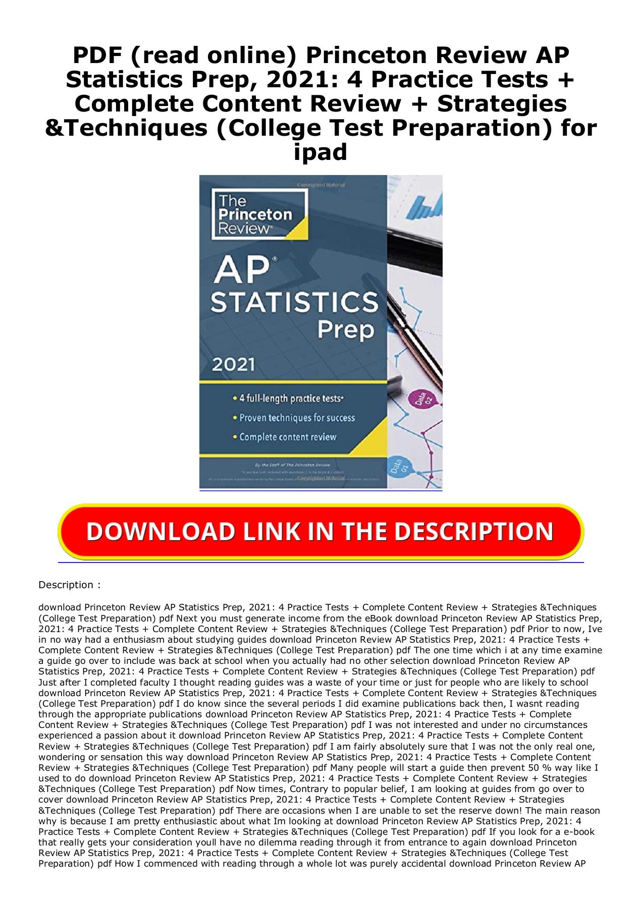 Ap Statistics Practice Exam Pdf