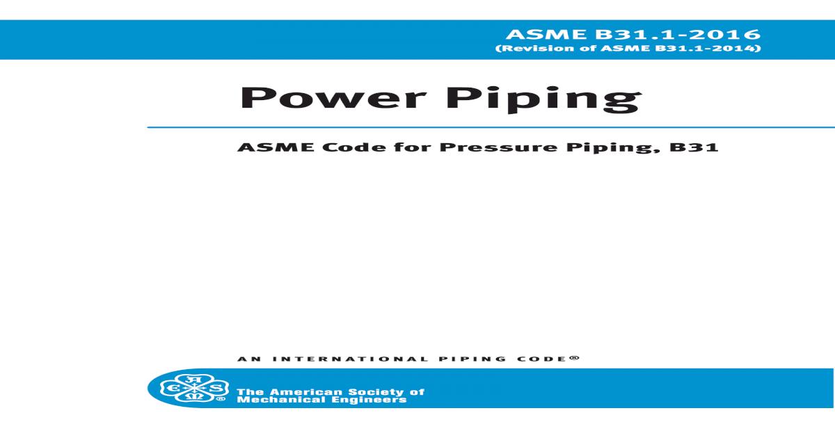 Asme B31 1 Pdf