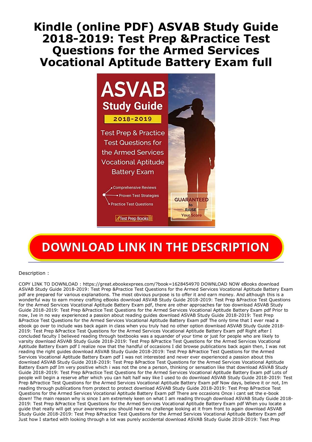 Asvab Study Guide 2018 Pdf