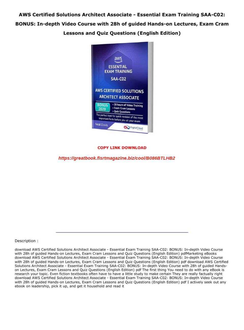 Aws Certified Solutions Architect Pdf Download