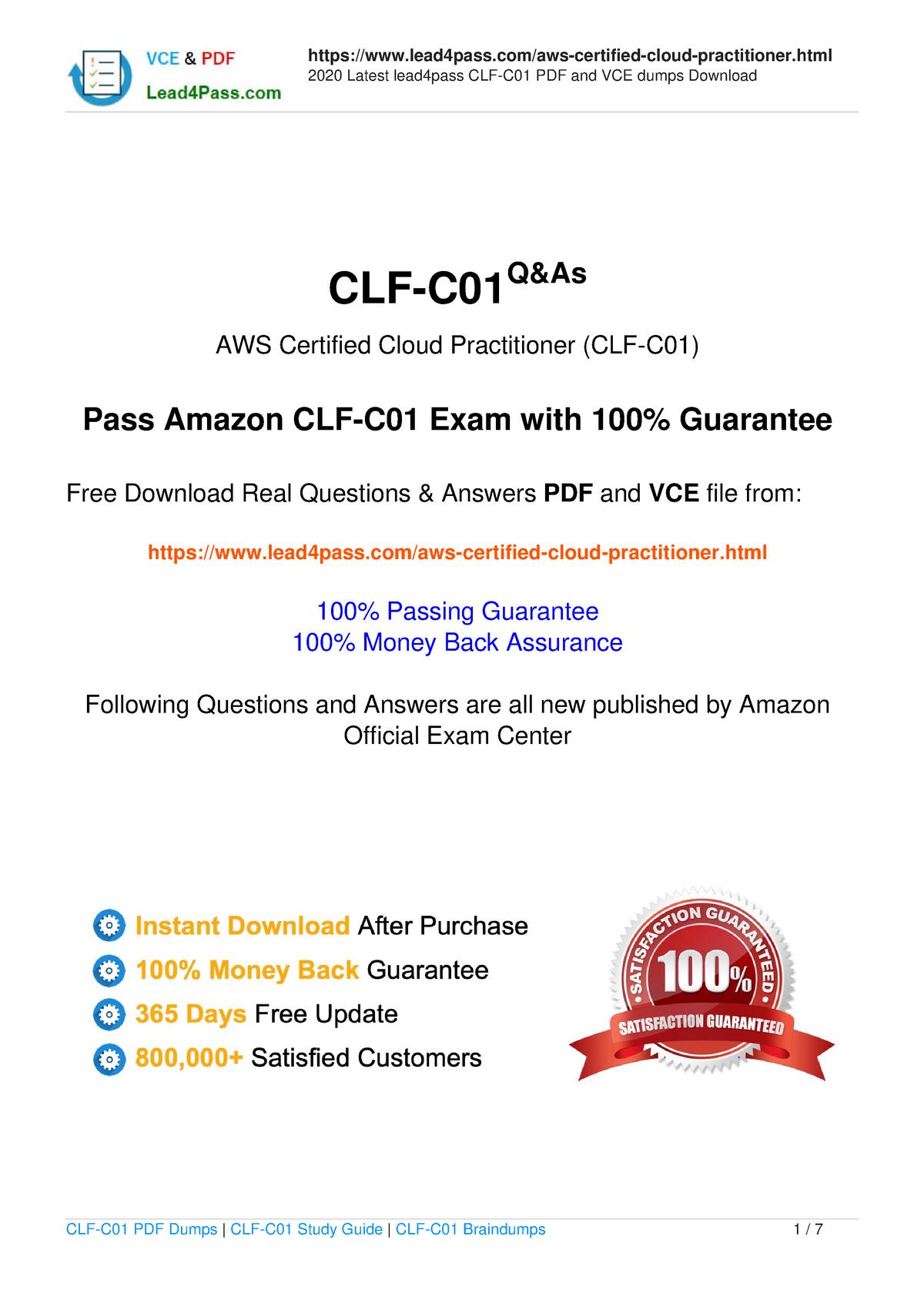 Aws Cloud Practitioner Pdf Download Free