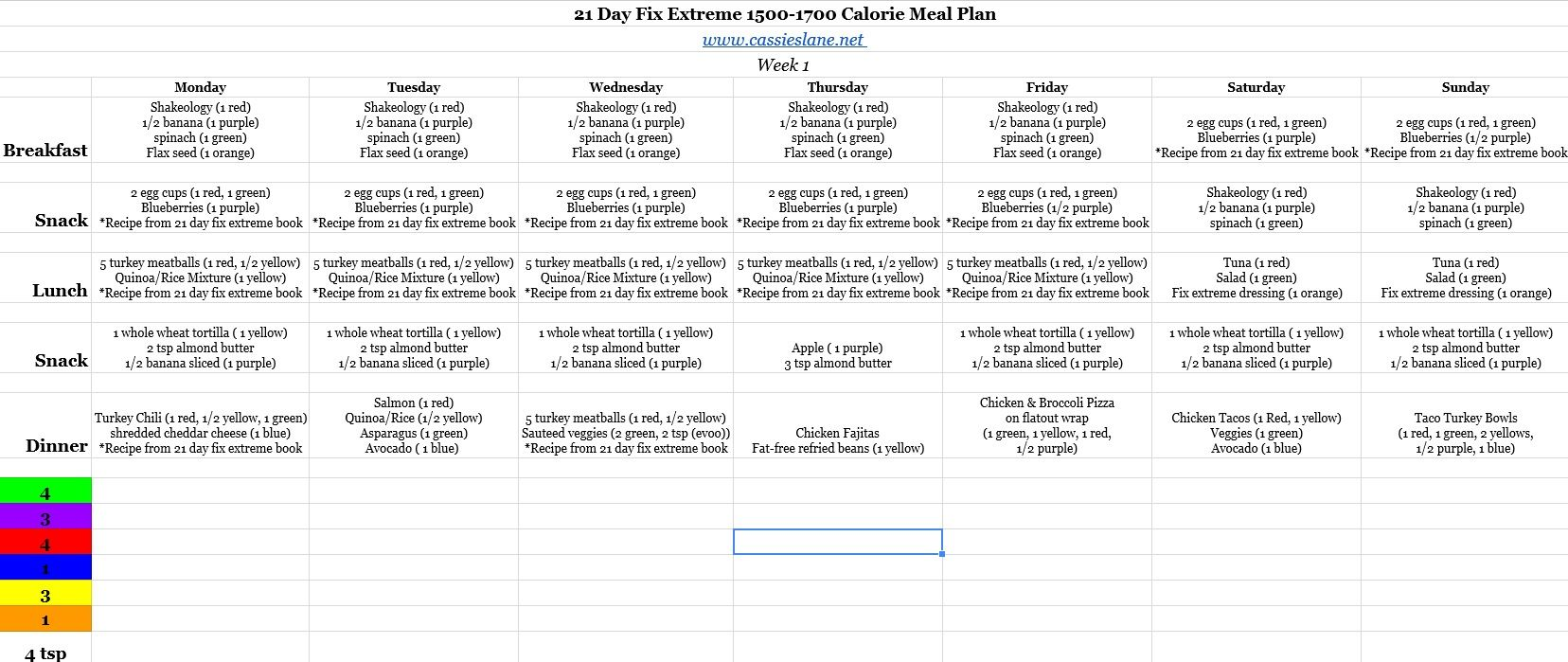 Easy 1700 Calorie Meal Plan Pdf