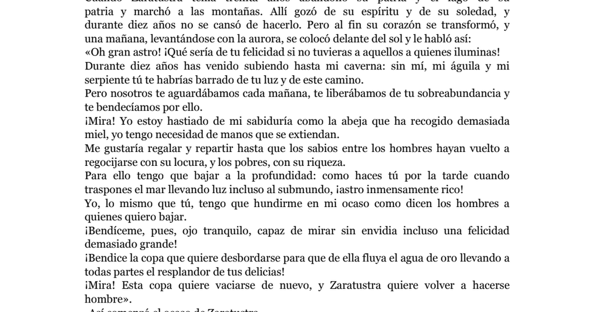Friedrich Nietzsche Asi Hablo Zaratustra Pdf
