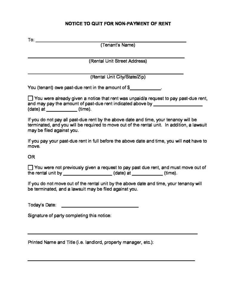 Landlord 30 Day Eviction Notice Texas Pdf