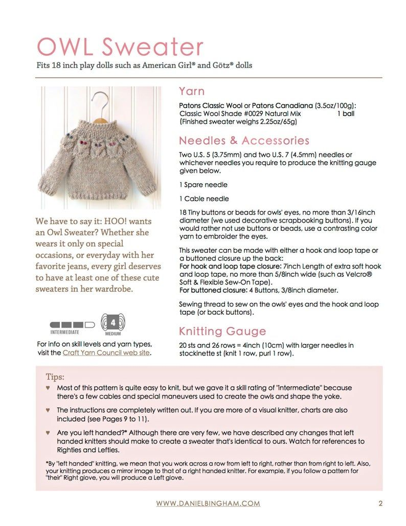 Pdf 18 Inch Doll Clothes Patterns
