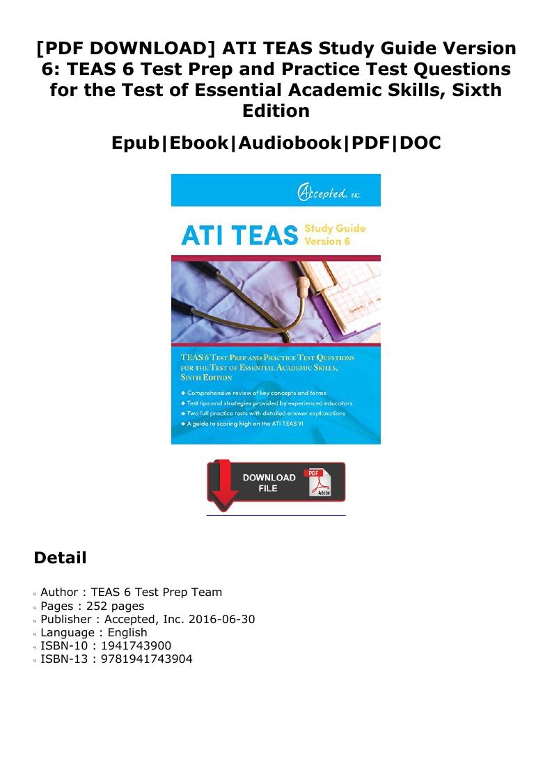 Teas 6 Study Guide Pdf
