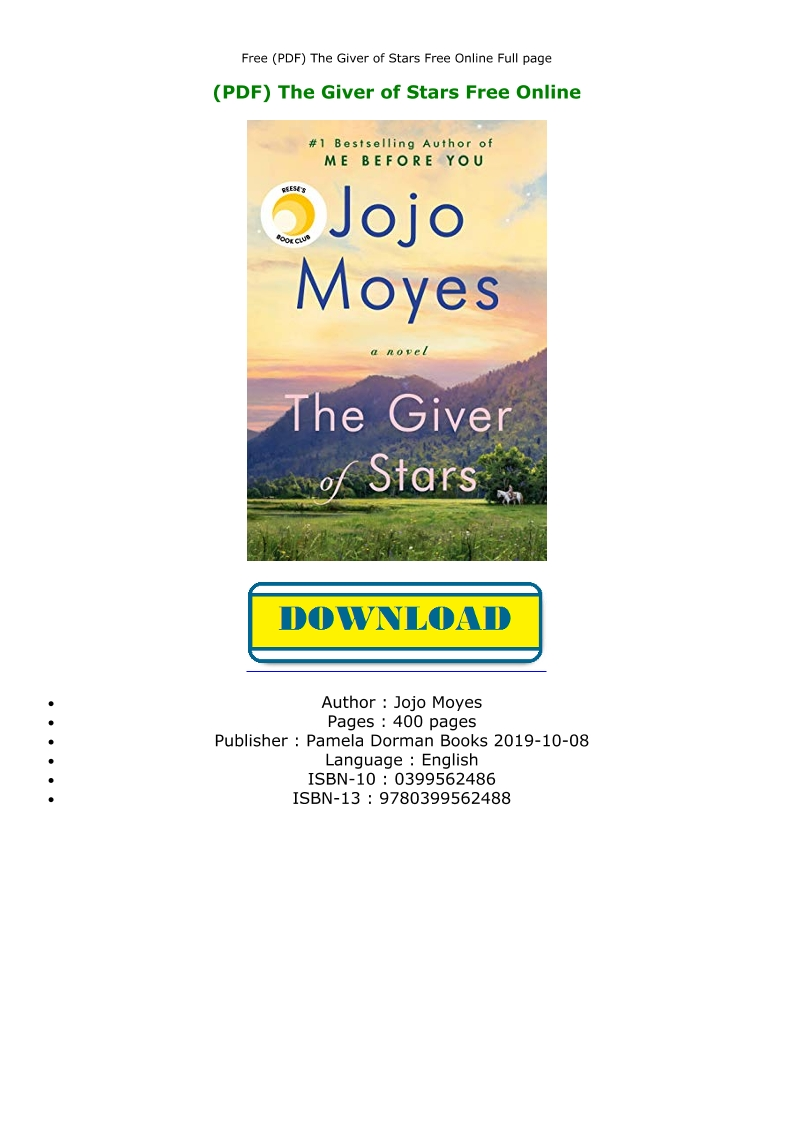 The Giver Free Pdf Online