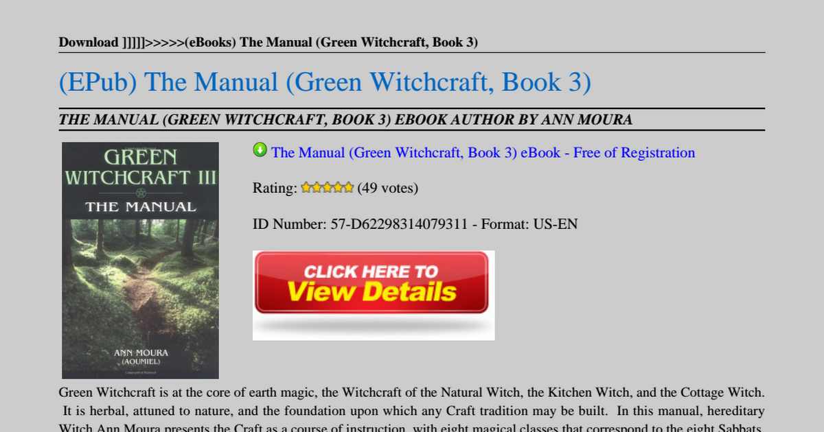 The Green Witch Pdf Google Drive