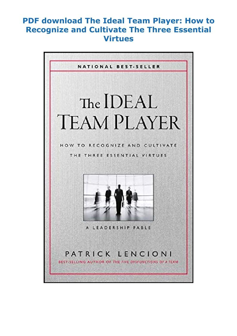 The Ideal Team Player Pdf Download