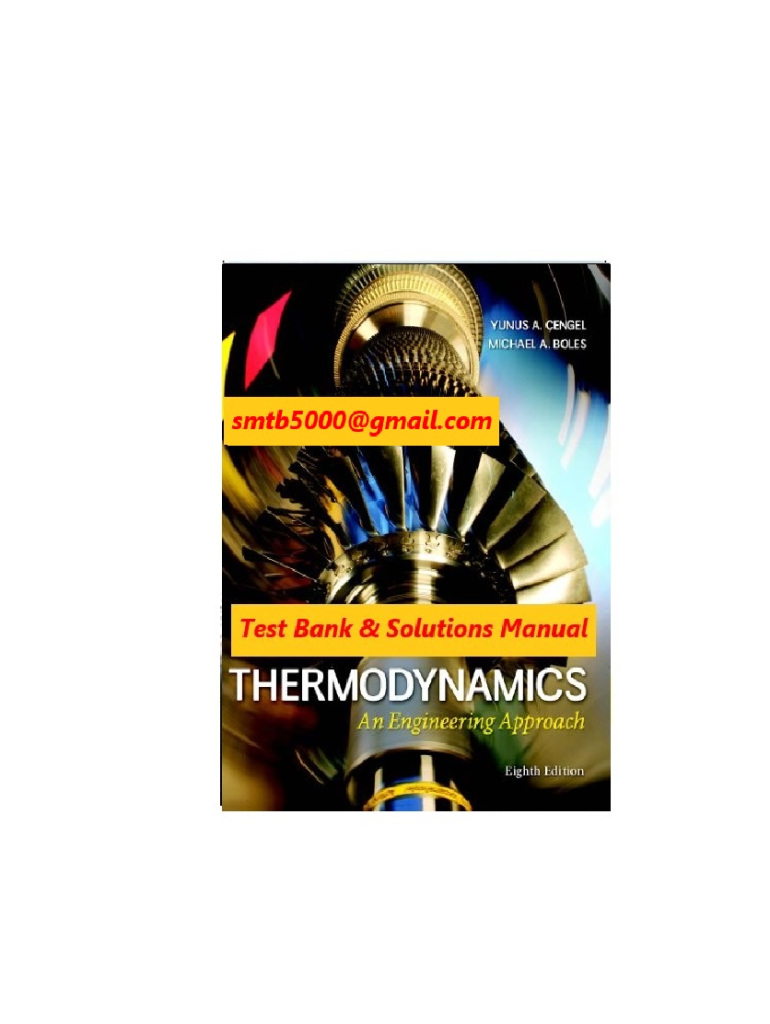 Thermodynamics An Engineering Approach 8th Edition Pdf