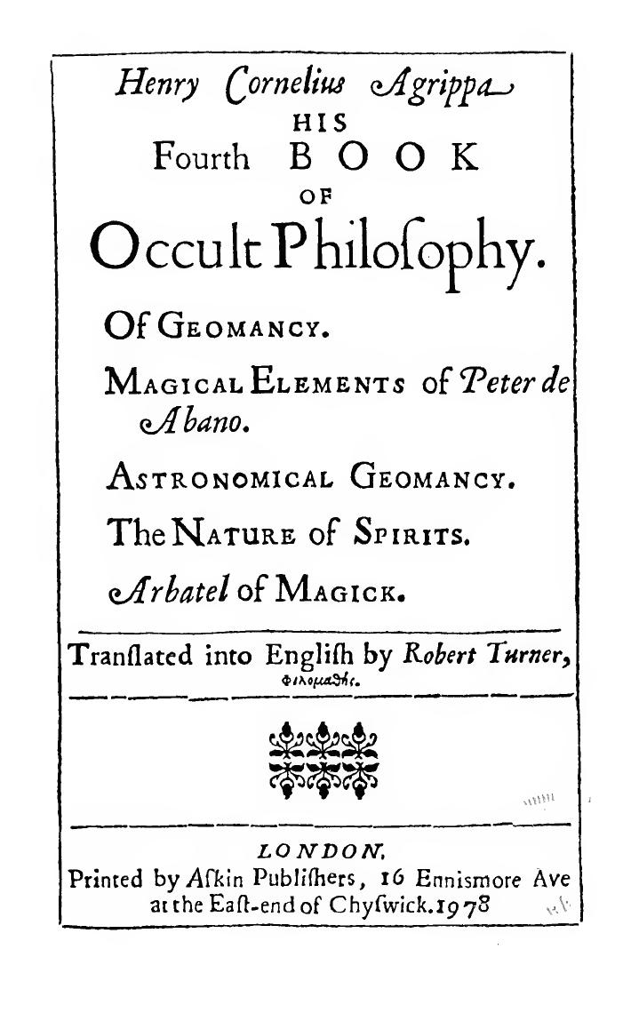Three Books Of Occult Philosophy Pdf Download
