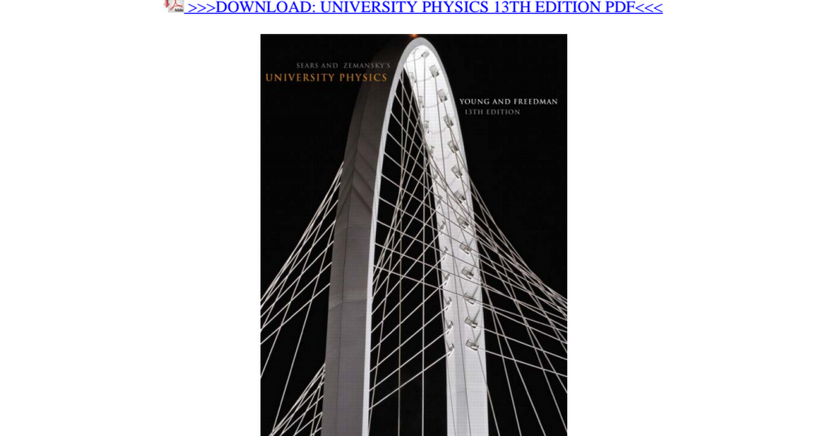 University Physics 13th Edition Pdf Google Drive