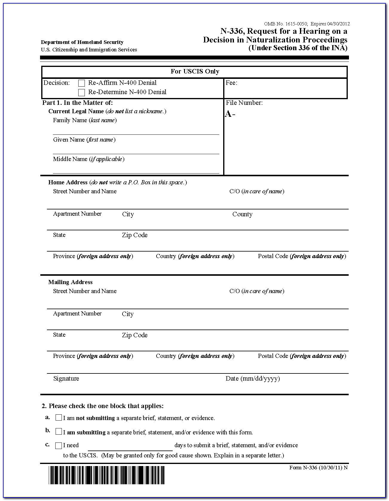 Uscis Form N 400 Pdf Download