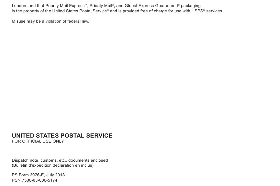 Usps Customs Form Pdf Fillable