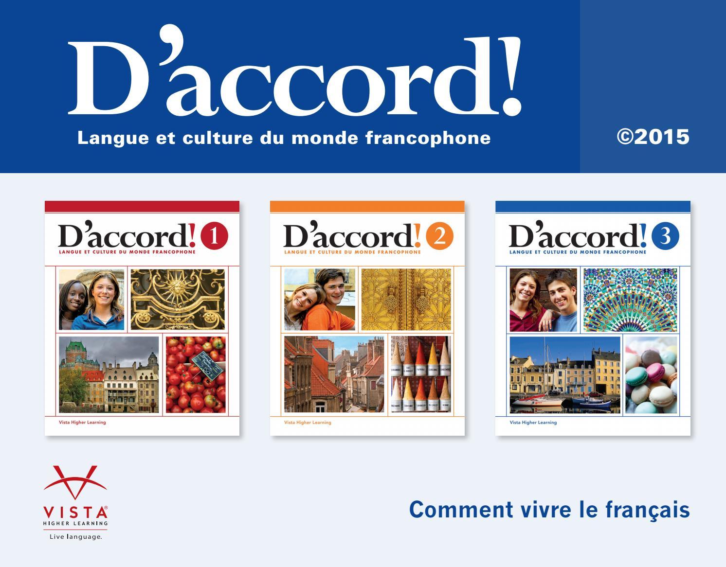 Vista Higher Learning French Answer Key Pdf