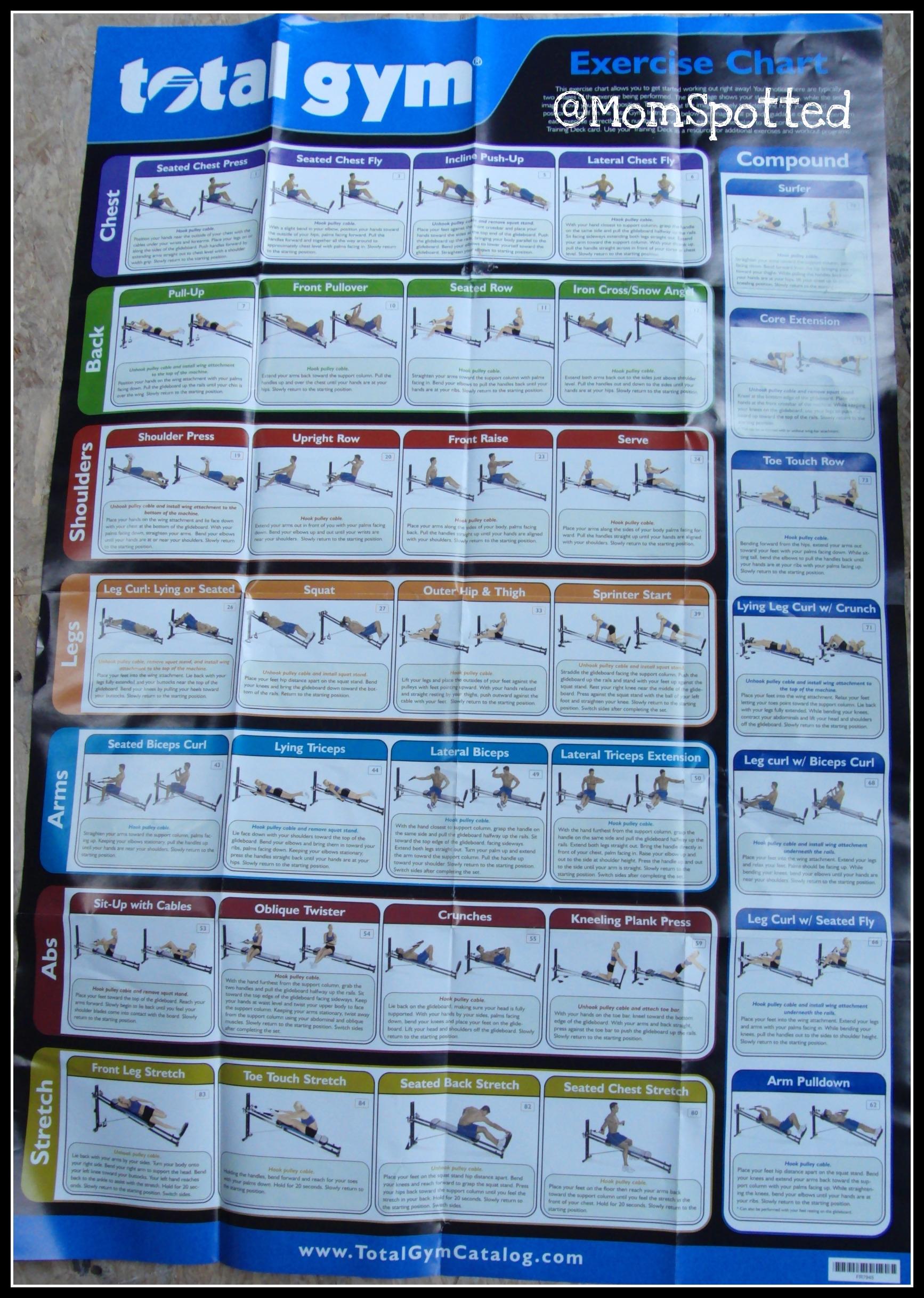Wall Chart Total Gym Workout Chart Pdf