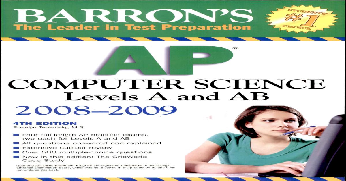 Barron's Ap Computer Science Pdf