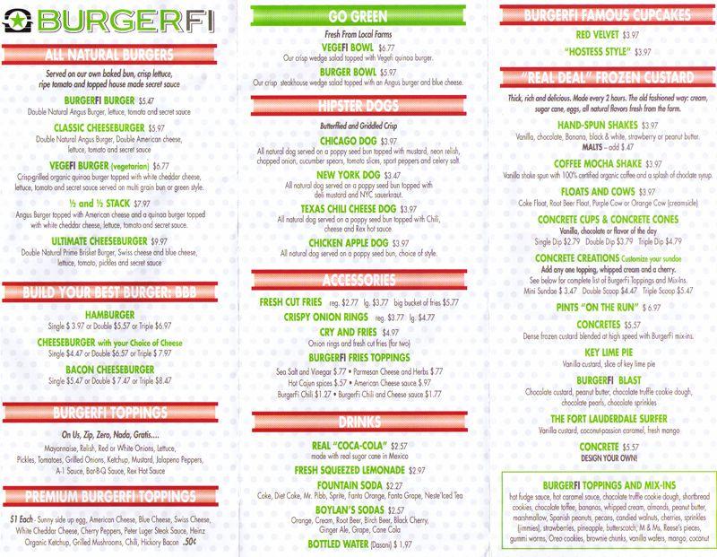 Burgerfi Menu Pdf