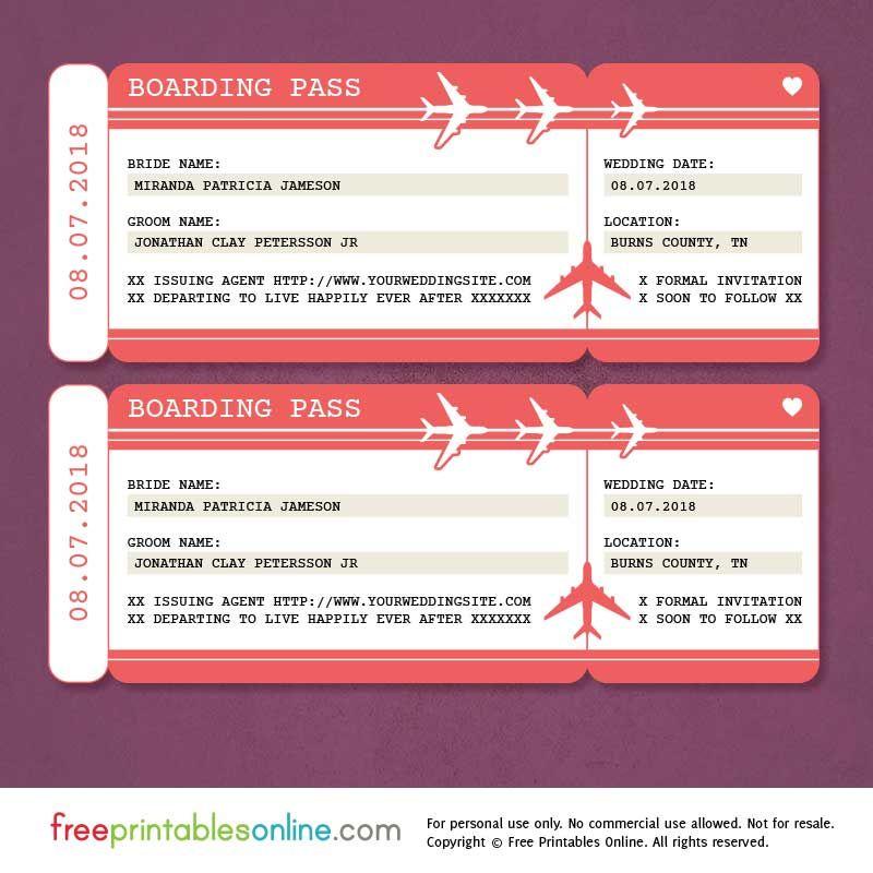 Downloadable Boarding Pass Template Pdf