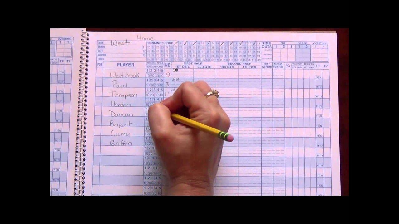 Nfhs Basketball Scorebook Pdf