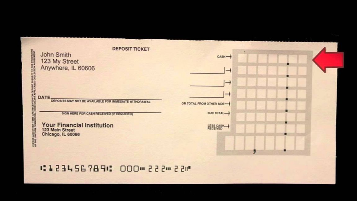 Printable Blank Wells Fargo Deposit Slips Pdf