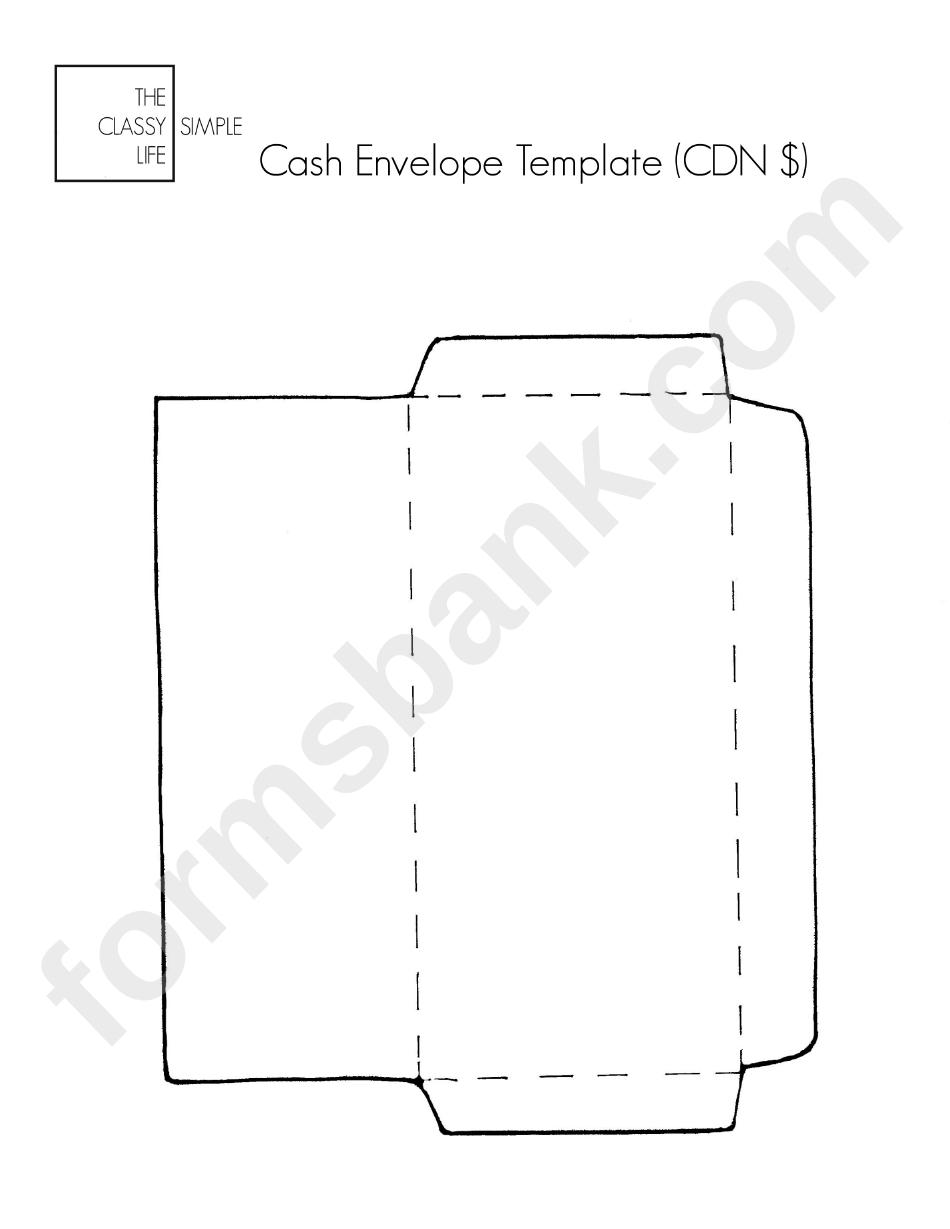 Printable Cash Envelope Template Pdf
