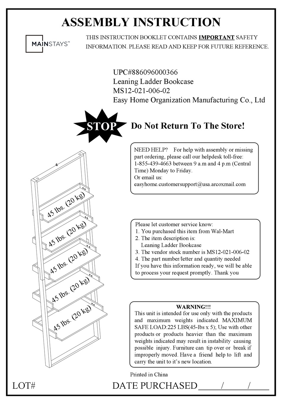 Assembly Instructions Mainstays Bathroom Space Saver Instructions Pdf