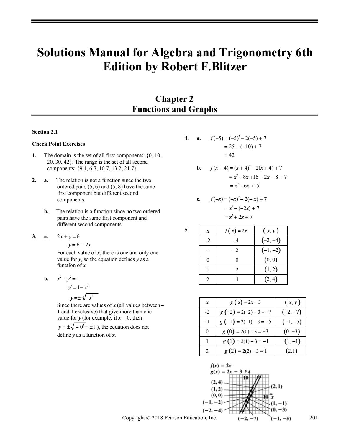 College Algebra And Trigonometry 6th Edition Pdf