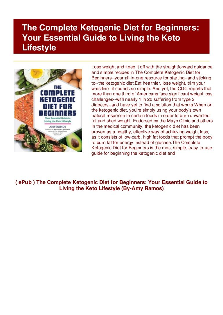 Complete Ketogenic Diet For Beginners Pdf