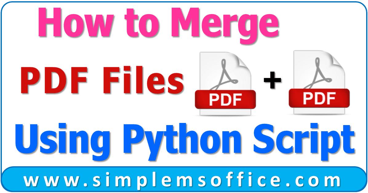 Concatenate Pdf Files Python