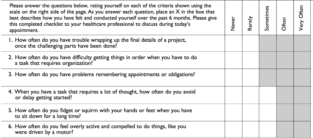 Conners Adhd Rating Scale Pdf For Adults