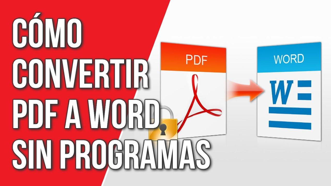 Convertir Pdf A Word Gratis Online