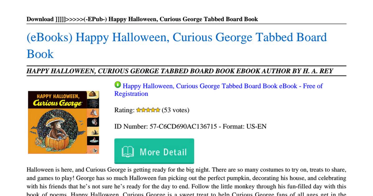 Curious George Book Pdf