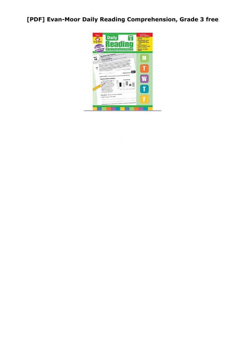 Daily Reading Comprehension Grade 3 Pdf Free