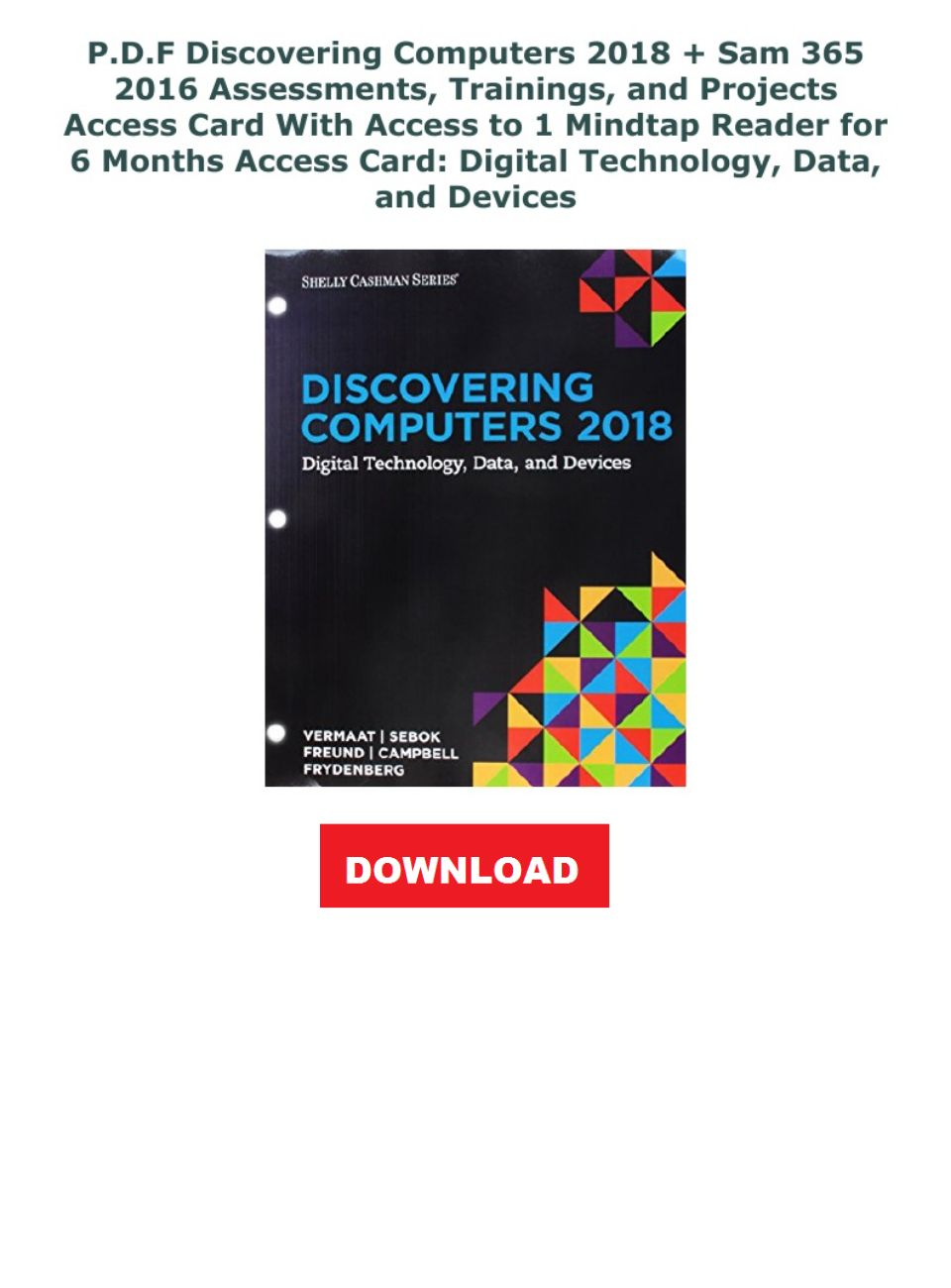 Discovering Computers 2018 Pdf