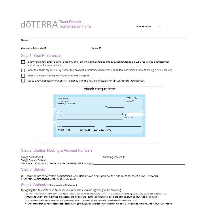 Downloadable Green Dot Direct Deposit Form Pdf
