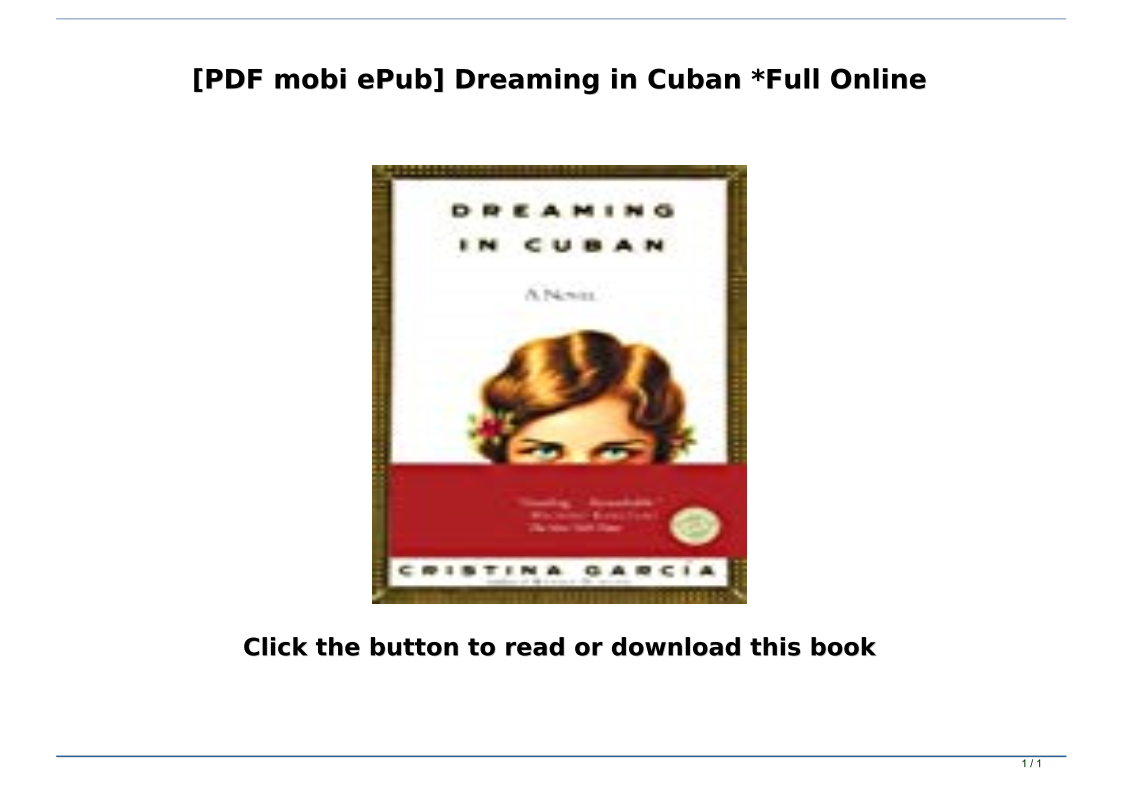 Dreaming In Cuban Pdf