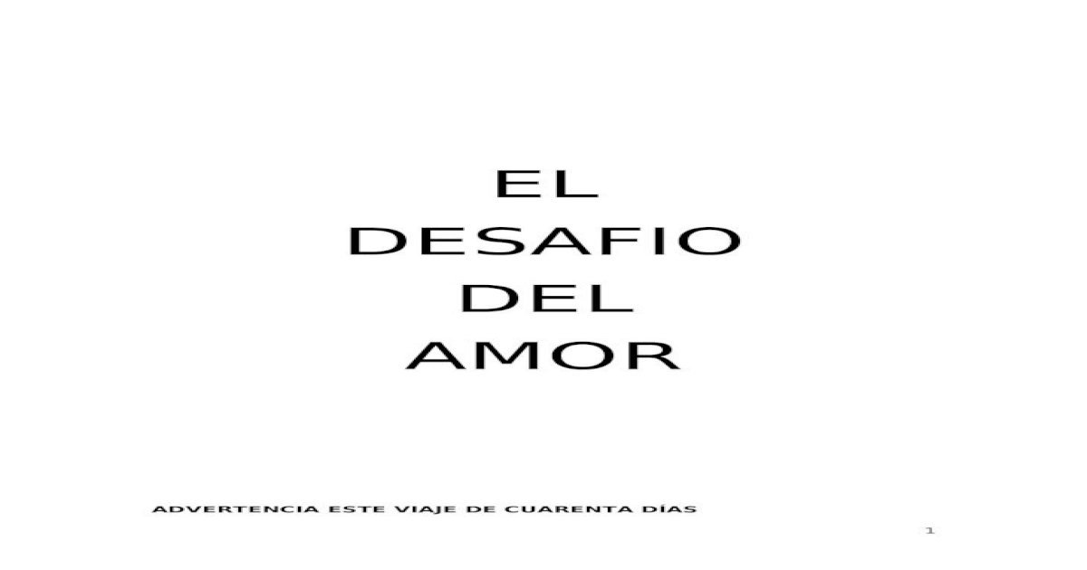 El Desafio Del Amor Pdf