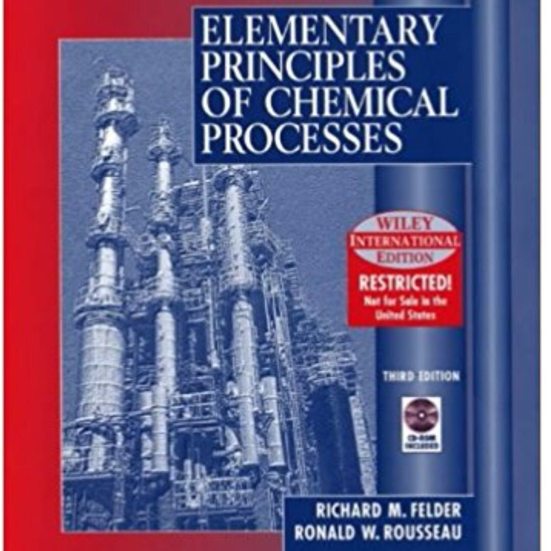 Elementary Principles Of Chemical Processes Pdf