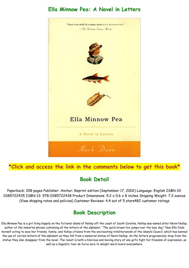 Ella Minnow Pea Pdf Free Download